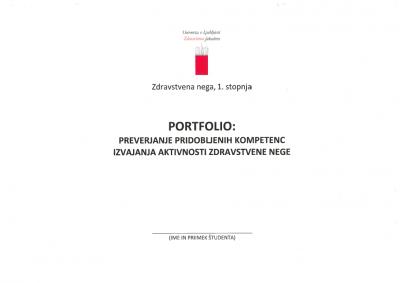 Portfolio: Preverjanje pridobljenih kompetenc izvajanja aktivnosti zdravstvene nege