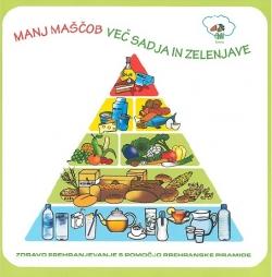 Manj maščob - več sadja in zelenjave : zdravo prehranjevanje s pomočjo prehranske piramide